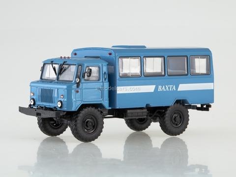 GAZ-66 NZAS-3964 (66) Shuttle bus blue 1:43 AutoHistory