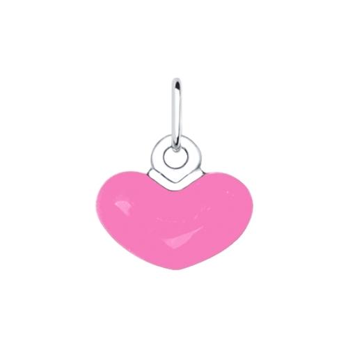 Подвеска из серебра с эмалью в форме сердца из коллекции My story