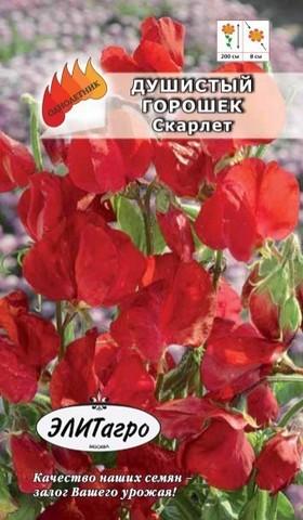 Семена Душистый горошек Скарлет красный, Одн