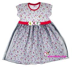 854  платье три цветка