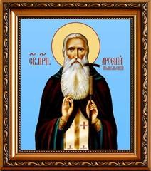 Арсений Комельский, Вологодский  преподобный игумен. Икона на холсте.