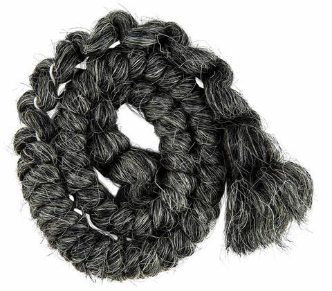 MEHRON Креповые волосы Crepe Hair, Dark Grey (Темно-серые)