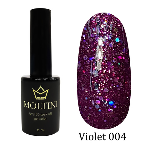 Гель-лак Moltini Violet 004, 12 ml