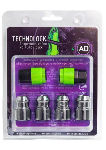 Готовый набор из колёсных гаек М14x1.5 и комплекта секреткок TECHNOLOCK AD