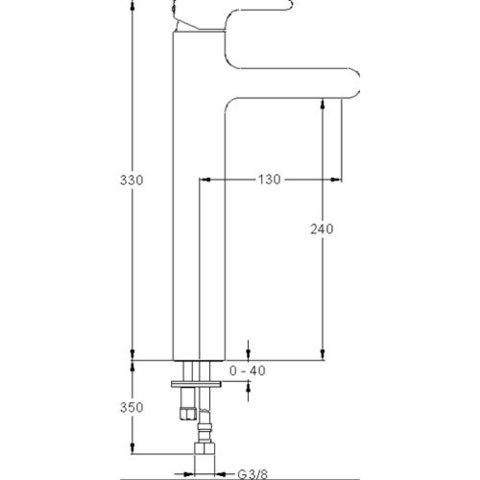 Смеситель для раковины Jacob Delafon Singulier E10861-CP схема