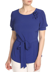 WP6502F-1 блузка женская, темно-синяя