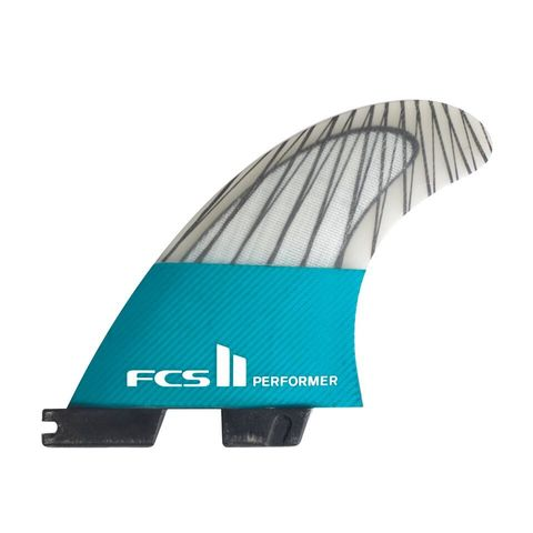 FCS II Performer PC Carbon Teal Tri Retail Fins
