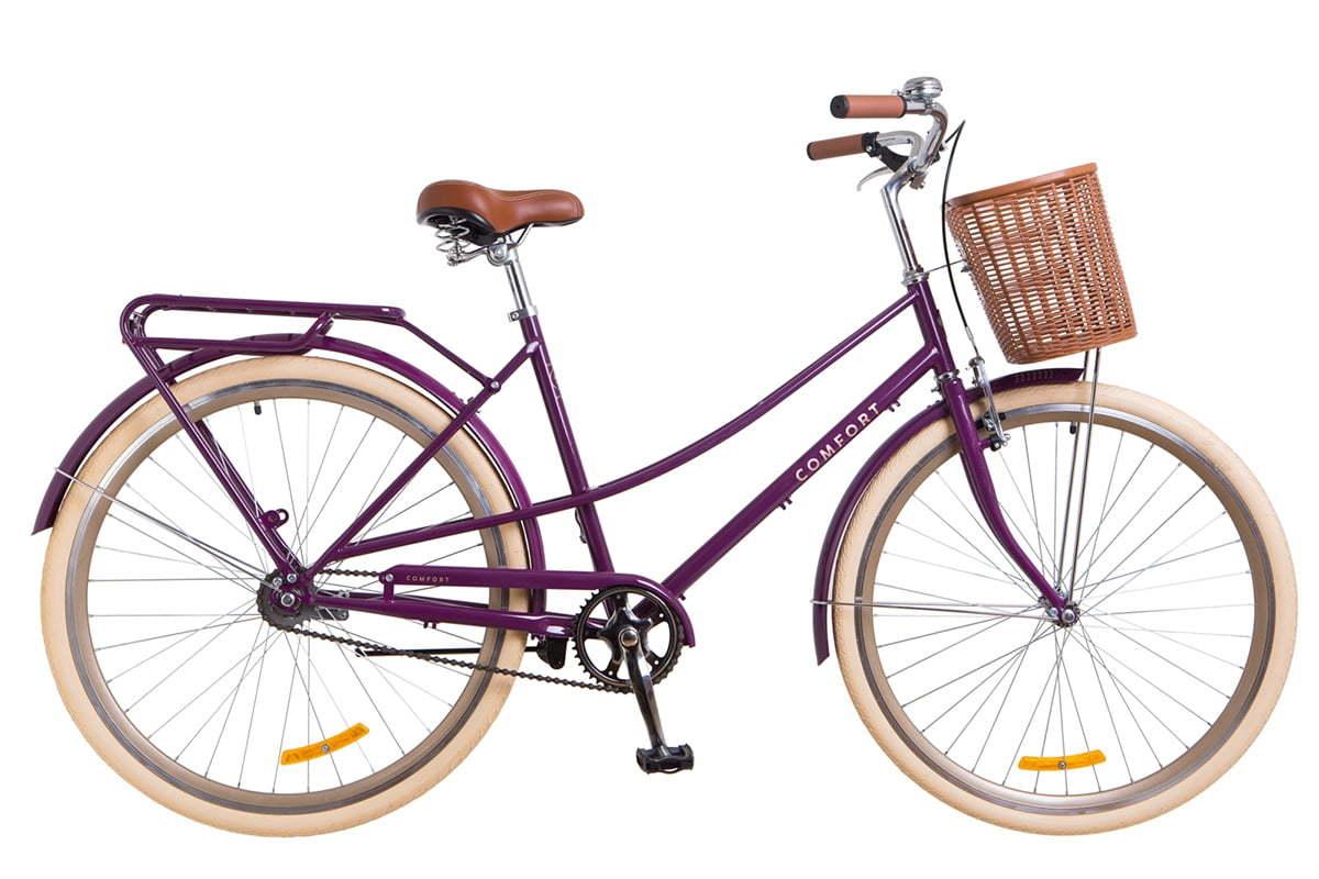 Городской женский велосипед Dorozhnik Comfort Female фиолетовый