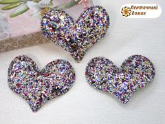 Мягкое блестящее сердце серебряное №7