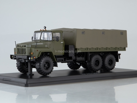 KRAZ-260 flatbed truck with awning khaki 1:43 Start Scale Models (SSM)