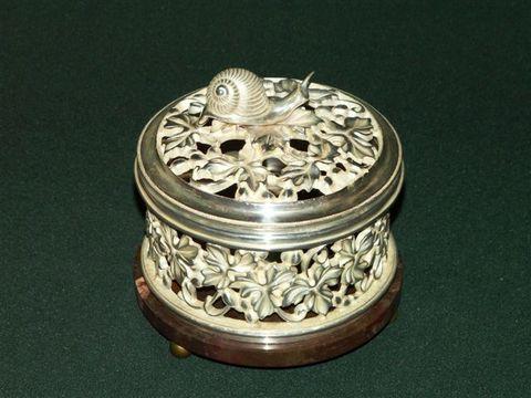 Шкатулка Виноградная лоза с серебрением