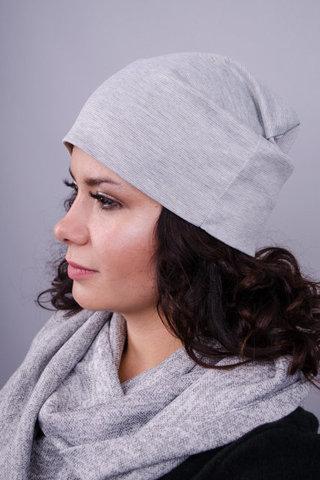 Фэшн. Молодёжные женские шапки. Серый.