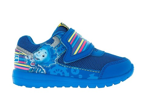 Кроссовки для мальчиков на липучках Фиксики, цвет синий. Изображение 1 из 5.