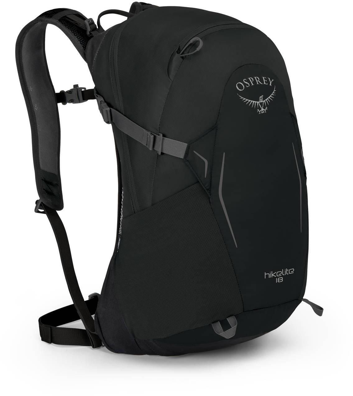 Туристические рюкзаки Рюкзак Osprey Hikelite 18 Black HIkelite18_S18_Side_Black_web.jpg