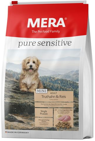 Mera Pure Sensitive MINI Adult  Truthahn&Reis