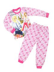 3986-1 пижама детская, розовая
