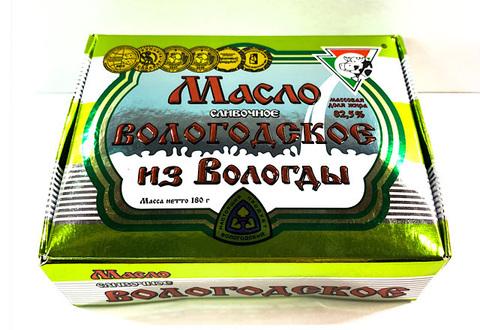 Масло Сливочное Вологодское из Вологды 82,5%, 180 г