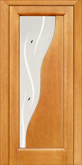 Дверь межкомнатная,Россич,Зодиак ДО, Цвета : Анегри, Красное дерево