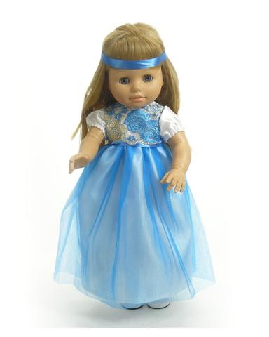 Платье из тафты - На кукле. Одежда для кукол, пупсов и мягких игрушек.