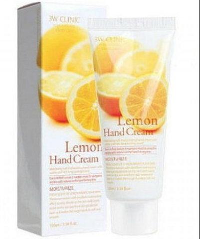 3W CLINIC Крем д/рук увлажняющий с экстрактом ЛИМОНА Lemon Hand Cream, 100 мл