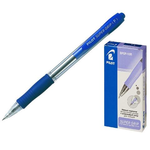 Ручка шариковая PILOT BPGP-10R-F авт.резин.манжет.синяя 0,32мм Япония