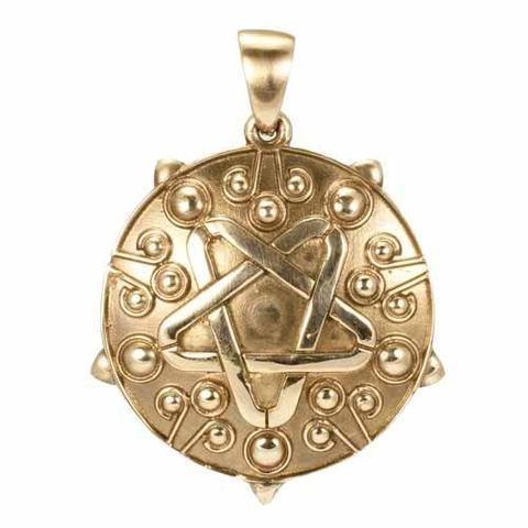 Кулон медальон из бронзы Йеннифер RH01919