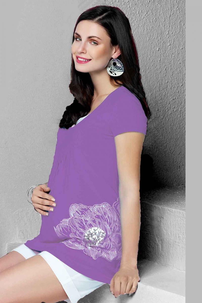 Блузка для беременных 01468 фиолетовый
