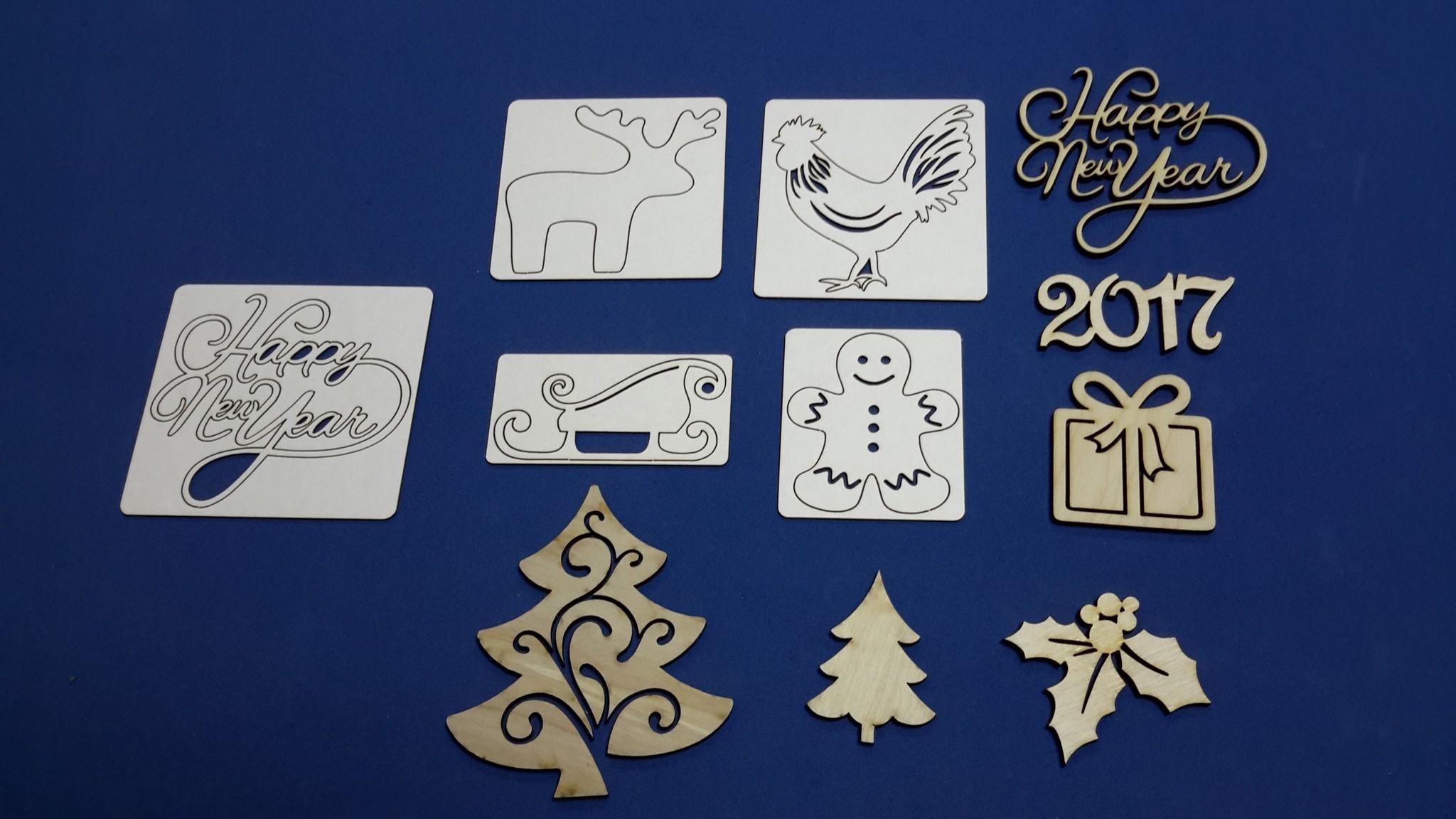 Словами, открытки с новым годом вырубка