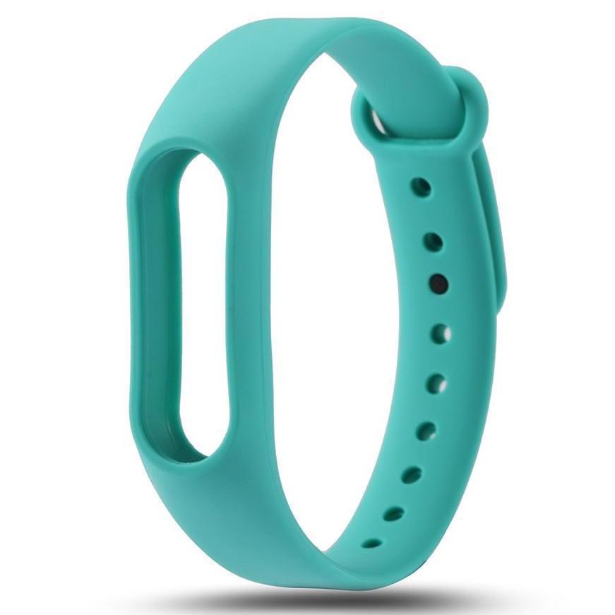 Бирюзовый вариант цвета сменного цветного браслета на Smart Mi Band 2