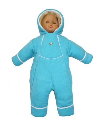 Комбинезон вязаный для новорожденного Persona бирюзовый