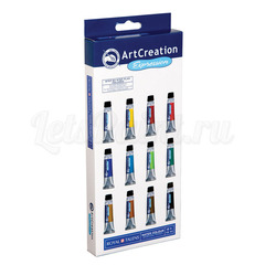 Набор акварельных красок ArtCreation - 12 цветов в тубах по 12мл