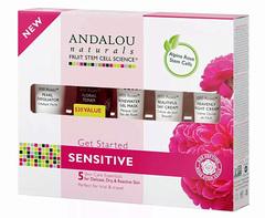 """Набор из 5 минипродуктов """"комплексный уход за чувстительной кожей"""", Andalou Naturals"""