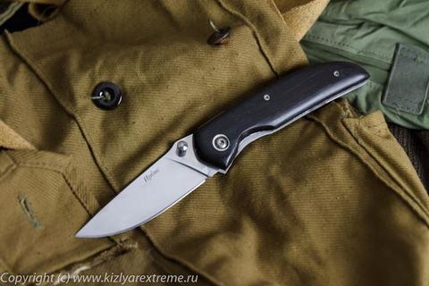 Складной нож Ирбис Черное Дерево