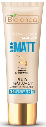 TOTAL LOOK MAKE-UP Матирующий тональный кремNUDE MATT - солнечный 30гр