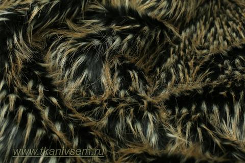 Мех искусственный «Чёрный соболь» 10-73-32096