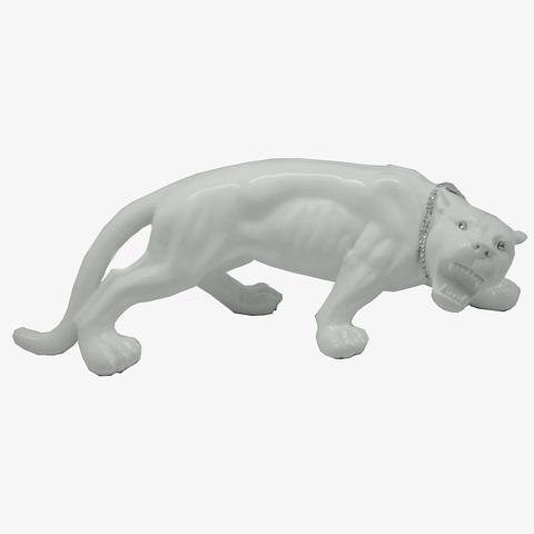 Статуэтка Decor Леопард маленький белый 86515W