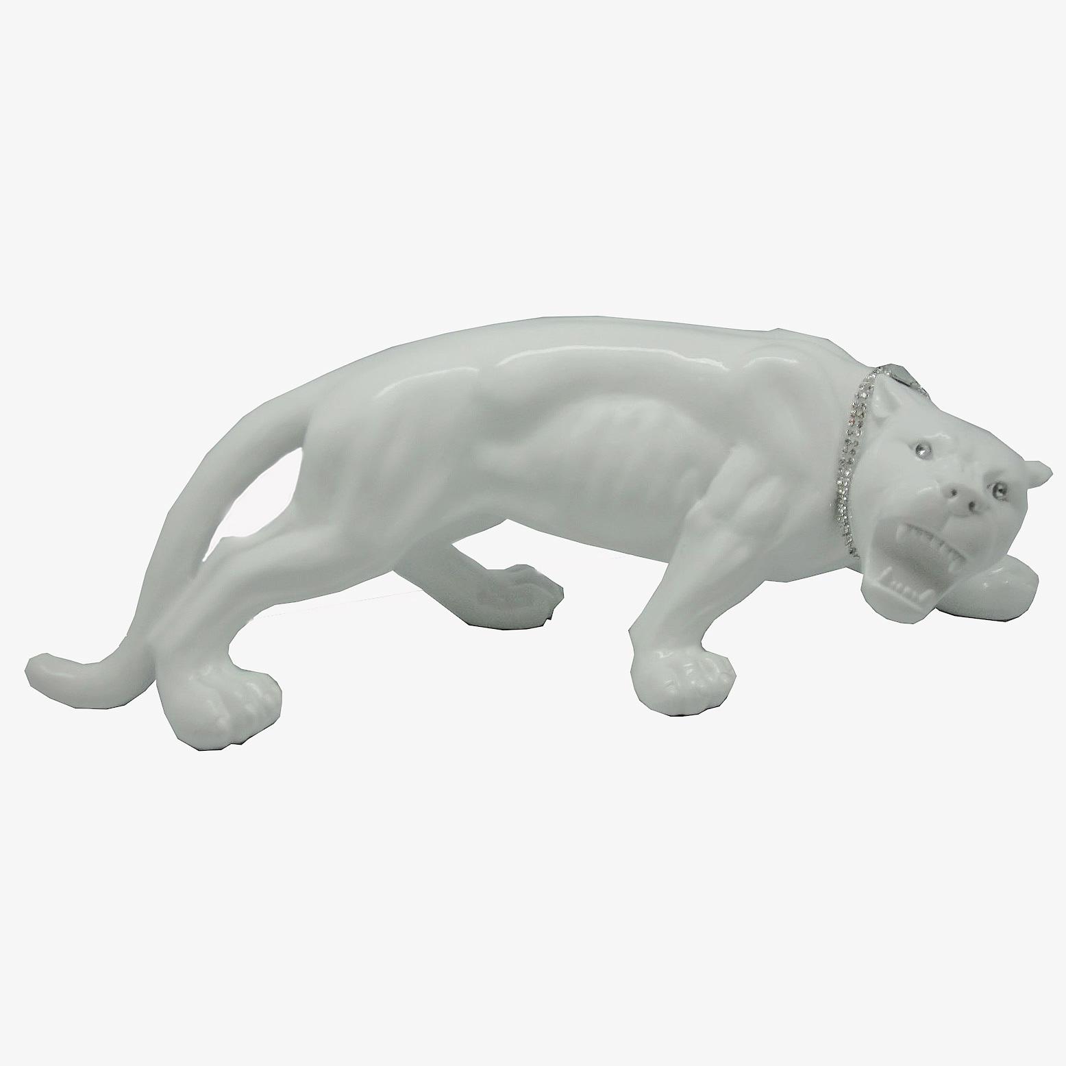 Статуэтки Статуэтка Decor Леопард маленький белый 86515W statuetka-decor-leopard-malenkiy-belyy-86515w-kitay.JPG