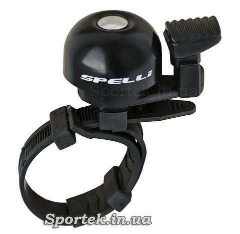 Маленький велосипедный звонок Spelli SBL-709 на стяжке