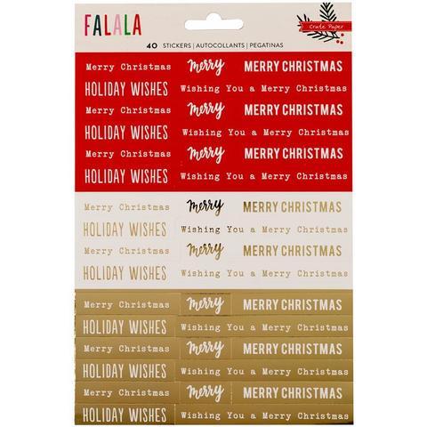 Стикеры Fa La La Phrase Stickers W/Gold Foil