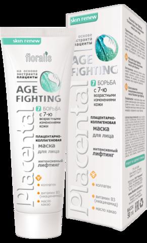 Floralis Placental Age - Fighting Плацентарно - коллагеновая маска для лица 50г