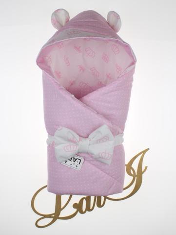 Демисезонный конверт  одеяло на выписку из роддома Микки (розовый)