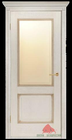 Дверь Двери Белоруссии Гранд ПО, цвет слоновая кость, остекленная