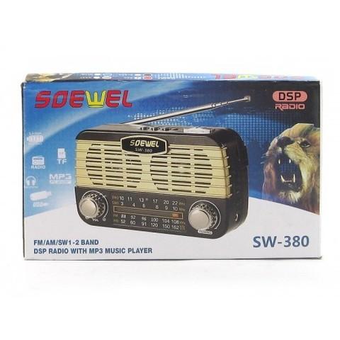 Радиоприемник SW-380 UTR MP3/FM/MicroSD/USB BL5C (3xAA)