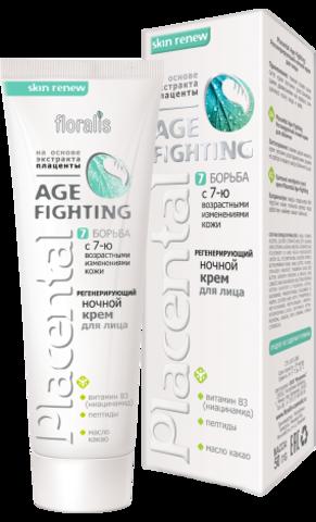 Floralis Placental Age - Fighting Регенерирующий ночной крем для лица 50г
