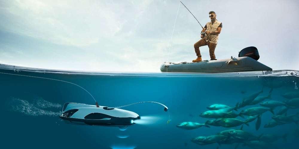 Подводный дрон для съёмок PowerVision PowerRay Explore под водой