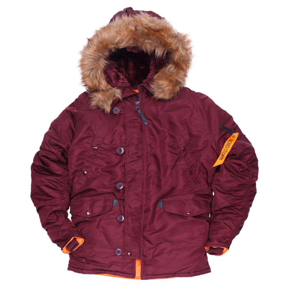 Куртка Аляска  N-3B Husky (бордовая - maroon)