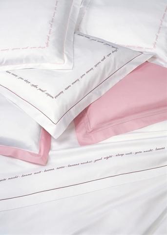 Наволочка для валика 15х40 Christian Fischbacher Luxury Nights Sweet Dreams 557 розовая