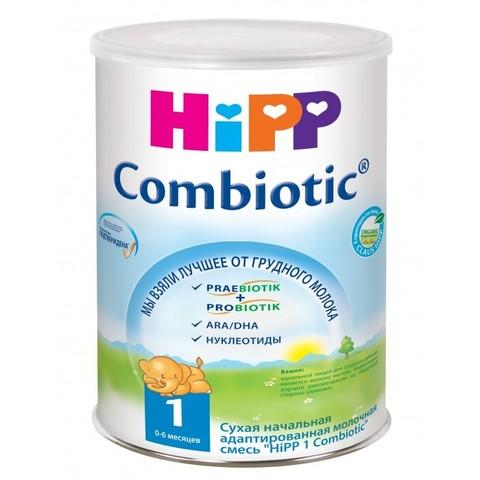 HIPP. Сухая адаптированная молочная смесь Combiotic с 0 мес., 350 г