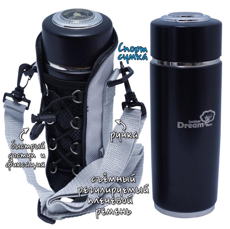 Улучшение воды Турмалиновый фласк Rawmid Dream flask в спортивной сумке rawmid_dream_flask.png