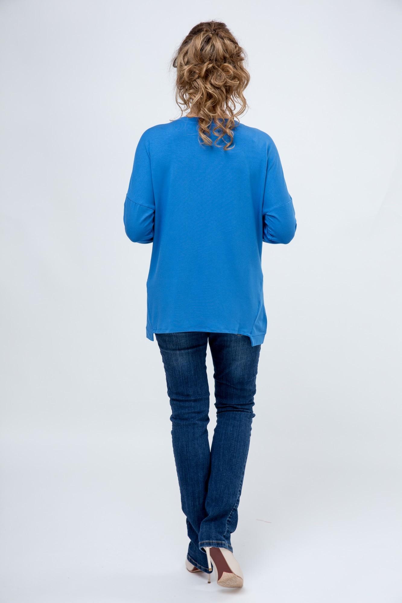 Блузка 09136 синий